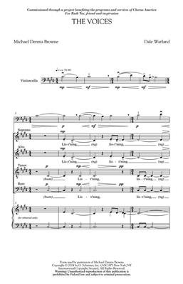 Dale Warland: The Voices: SATB