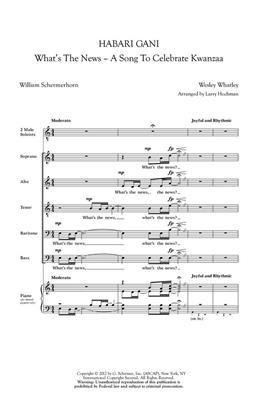 Wesley Whatley: Habari Gani: Mixed Choir