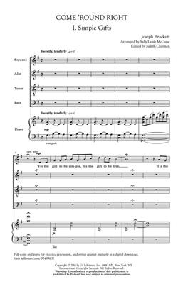 Come 'Round Right - A Folk Song Suite: Arr. (Sally Lamb McCune): SATB