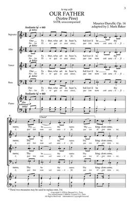 Maurice Duruflé: Our Father SATB: Vocal