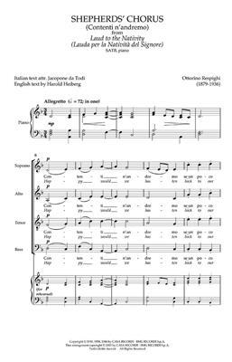 Ottorino Respighi: Shepherds Chorus from Laud to the Nativity: Mixed Choir