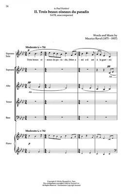 Maurice Ravel: Trois Chasons SATB: SATB