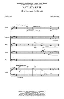 Dale Warland: Nativity Suite: No. 2 Magnum Mysterium: Mixed Choir