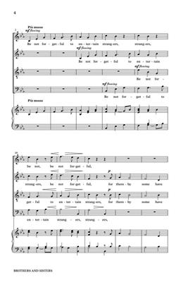Kirke Mechem: Brothers and Sisters: SATB