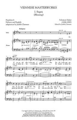 Salomon Sulzer: Viennese Masterworks: SATB