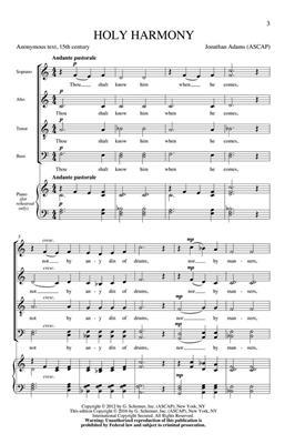 Jonathan Adams: Holy Harmony: SATB