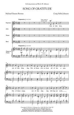 Craig Hella Johnson: Song of Gratitude: SATB