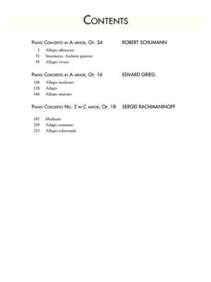 Edvard Grieg: Three Romantic Piano Concertos: Piano, 4 Hands