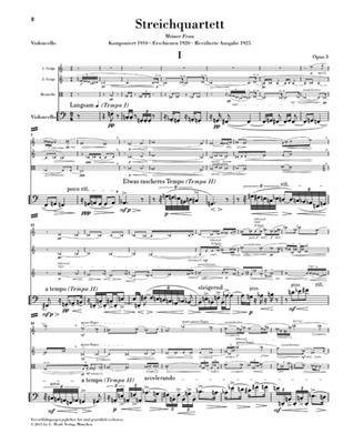 Alban Berg: Streichquartett op. 3: String Quartet