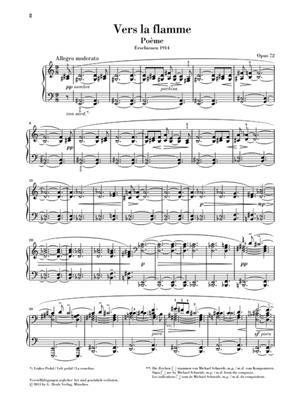 Alexander Skrjabin: Vers la flamme Poeme Opus 72: Piano