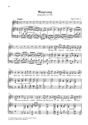 Ludwig van Beethoven: Goethe Songs: Vocal