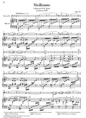 Gabriel Fauré: Sicilienne Op.78: Cello