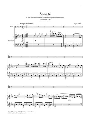 Johann Nepomuk Hummel: Sonate für Klavier und Viola Es-dur Opus 5 Nr. 3: Viola