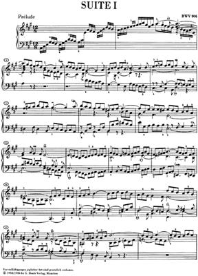Johann Sebastian Bach: English Suites 1-3 BWV 806-808: Piano