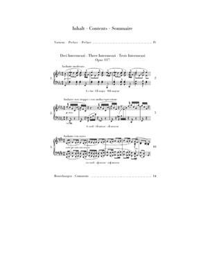 Johannes Brahms: 3 Intermezzi Op. 117: Piano