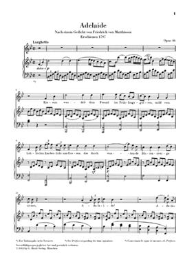 Ludwig van Beethoven: Adelaide Op.46 Voice & Piano Urtext: Voice
