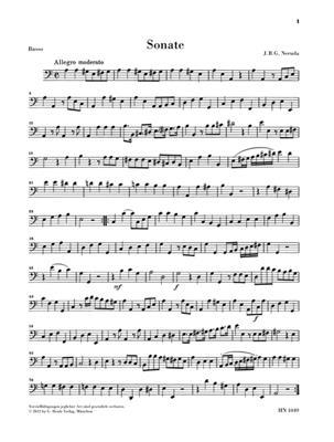 Johann Baptist Georg Neruda: Sonate a-moll für Violine und Basso continuo: Violin