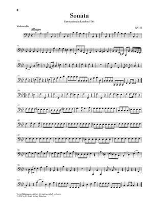 Wolfgang Amadeus Mozart: 'Wunderkind' Sonatas Volume 2 K.10-15: Violin