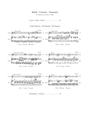 Wolfgang Amadeus Mozart: 'Wunderkind' Sonatas Volume 3 K.26-31: Violin