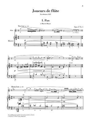 Albert Roussel: Joueurs de flûte, Opus 27 für Flöte und Klavier: Flute