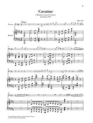 Camille Saint-Saëns: Cavatine Op.144: Trombone