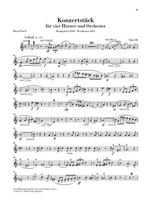 Robert Schumann: Concert Piece For Four Horns And Orchestra Op.86: French Horns