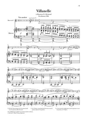 Paul Dukas: Villanelle für Horn und Klavier: French Horn
