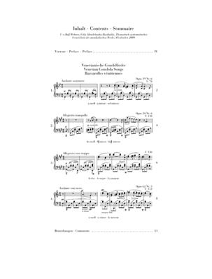 Felix Mendelssohn Bartholdy: Venetian Gondola Songs: Piano