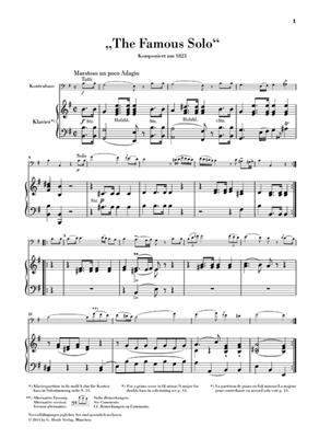 Domenico Dragonetti: The Famous Solo- für Kontrabass und Orchester: Double Bass