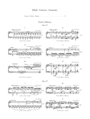 Sergei Rachmaninov: Études-Tableaux: Piano