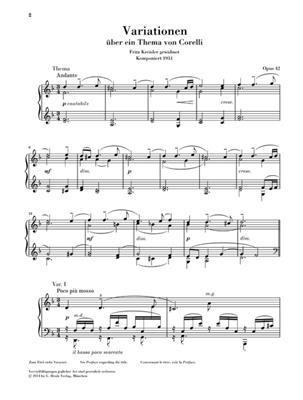 Sergei Rachmaninov: Corelli Variations Op. 42: Piano