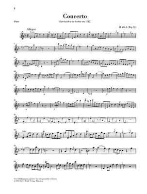 Carl Philipp Emanuel Bach: Flötenkonzert D-moll: Flute