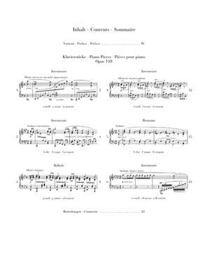 Johannes Brahms: Piano Pieces Op. 118, Nos. 1- 6: Piano