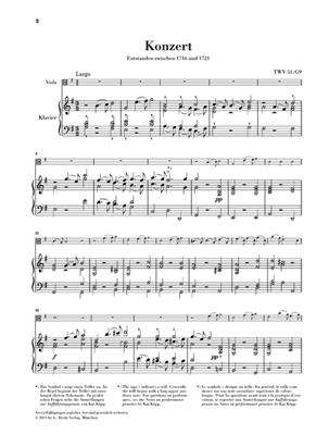 Georg Philipp Telemann: Viola Concerto In G Major: Viola