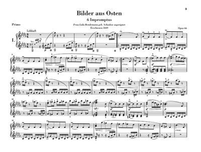 Robert Schumann: Bilder aus Osten op. 66: Piano Duet