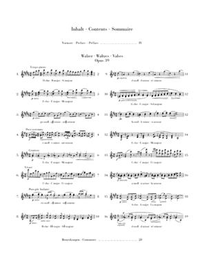 Johannes Brahms: Waltzes Op.39: Piano