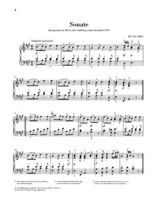 Wolfgang Amadeus Mozart: Sonata A K331: Piano