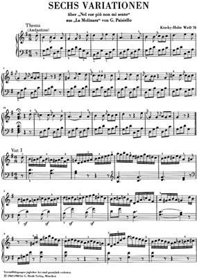 Ludwig van Beethoven: 3 Variation Works WoO 70, 64, 77: Piano