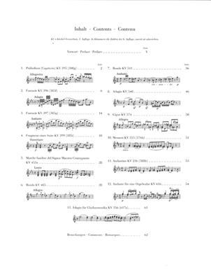 Wolfgang Amadeus Mozart: Piano Pieces - Selection: Piano