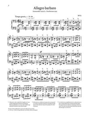 Béla Bartók: Allegro Barbaro: Piano