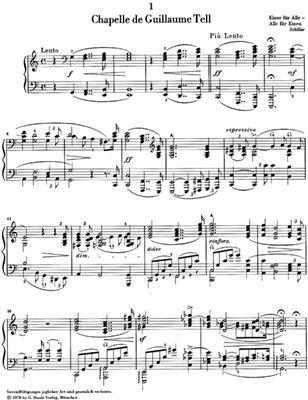 Franz Liszt: Années De Pèlerinage, Première Année - Suisse: Piano