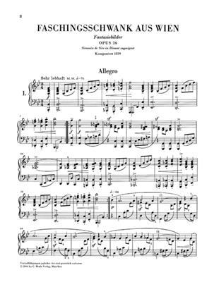 Robert Schumann: Faschingsschwank Aus Wien Op.26: Piano