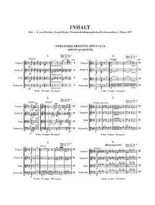 Franz Joseph Haydn: Streichquartette Heft IX op. 71 und 74: String Quartet