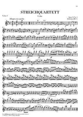Franz Joseph Haydn: Streichquartette Heft X Erdody-Quartette Op. 76: String Quartet