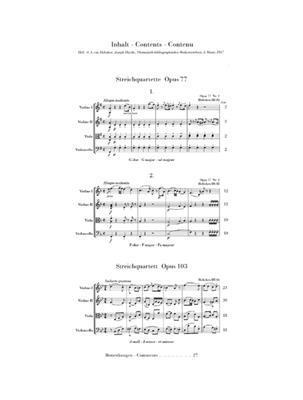 Franz Joseph Haydn: String Quartets Op.77 And Op.103: String Quartet