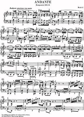 Ludwig van Beethoven: Andante In F WoO 57: Piano