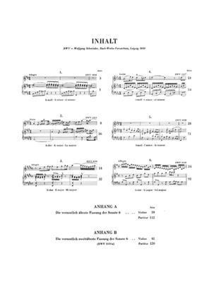 Johann Sebastian Bach: Six Sonatas for Violin and Piano: Violin