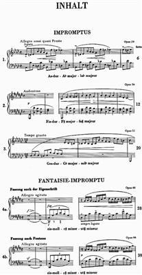 Frédéric Chopin: Impromptus: Piano