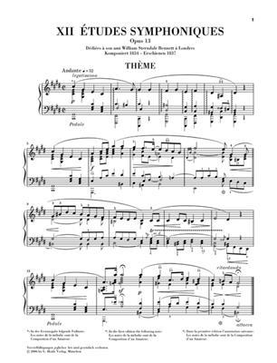 Robert Schumann: Symphonische Etuden Op.13: Piano