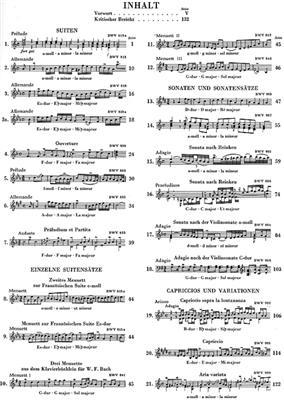 Johann Sebastian Bach: Suites, Sonatas, Capriccios, Variations: Piano